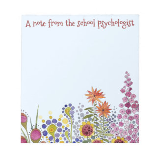 La libreta floral del psicólogo de la escuela libretas para notas