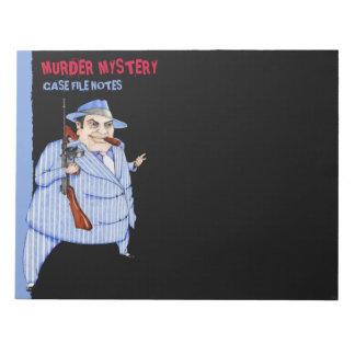La libreta grande del misterioso asesinato del neg bloc de papel