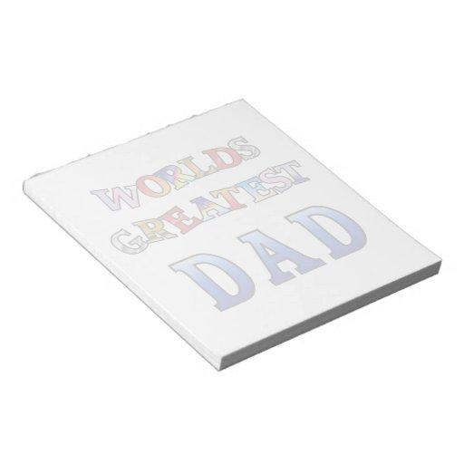 La libreta más grande del papá de los mundos blocs de papel