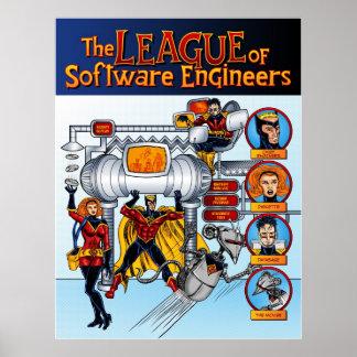 La liga de las Software Engineers Poster