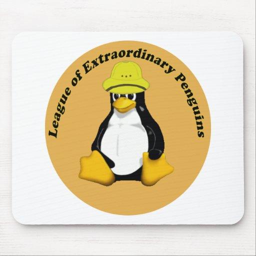 La liga de pingüinos extraordinarios alfombrilla de raton