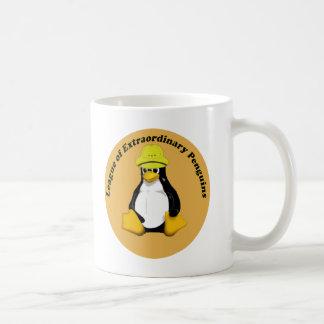 La liga de pingüinos extraordinarios taza de café