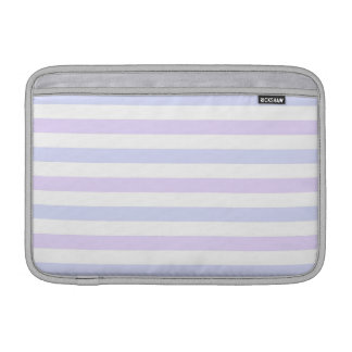 La lila, azul pálidos y blanco raya 11 pulgadas fundas MacBook