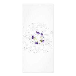 La lila coloreó diseño floral roto con los divots plantillas de lonas