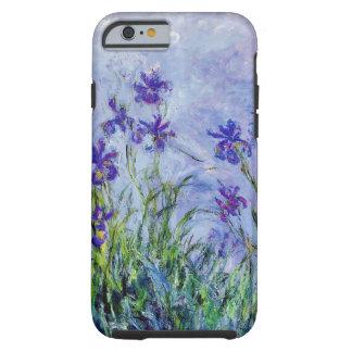 La lila de Claude Monet irisa el azul floral del Funda Resistente iPhone 6