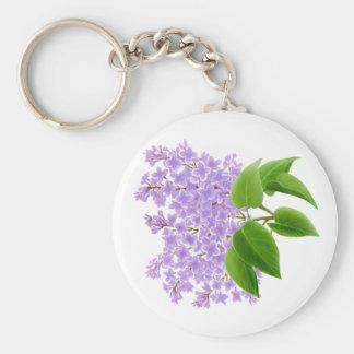 La lila de la primavera florece llavero