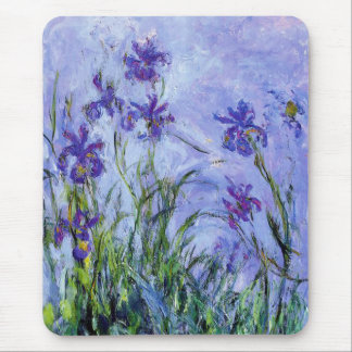 La lila de Monet irisa el cojín de ratón Tapete De Ratones