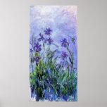 La lila de Monet irisa el poster Póster