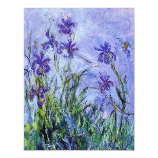 """La lila de Monet irisa invitaciones Invitación 4.25"""" X 5.5"""""""
