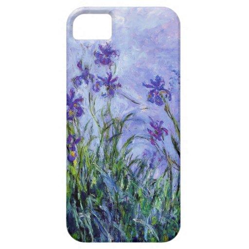 La lila de Monet irisa la caja del iPhone 5 iPhone 5 Funda