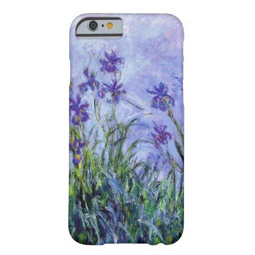 La lila de Monet irisa la caja del iPhone 6 Funda De iPhone 6 Barely There