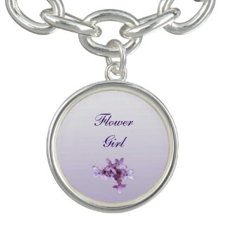 La lila floral florece al florista del boda pulsera