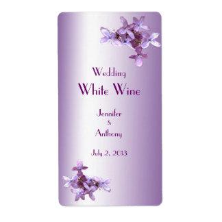 La lila floral florece casando la etiqueta del etiqueta de envío
