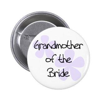 La lila florece a la abuela de la novia pin redondo de 2 pulgadas