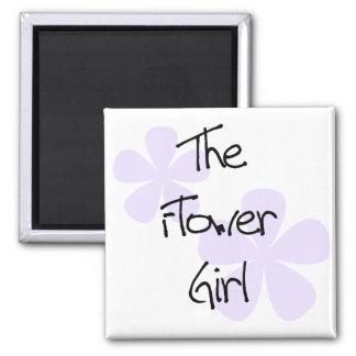 La lila florece al florista imán cuadrado