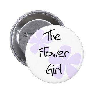 La lila florece al florista pin redondo de 2 pulgadas