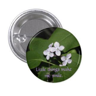 La lila florece el botón pins