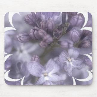 La lila florece el cojín de ratón mouse pads