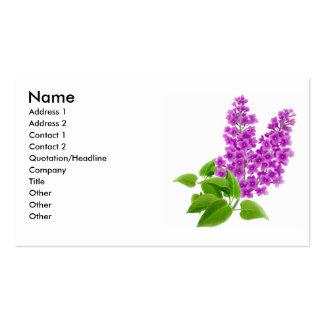 La lila florece la tarjeta del perfil plantilla de tarjeta de visita