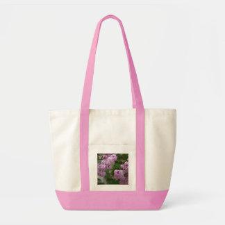 La lila florece tote bolsa tela impulso