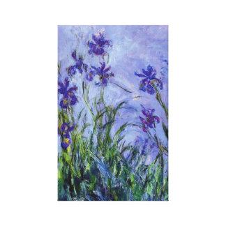 La lila irisa la bella arte de Claude Monet