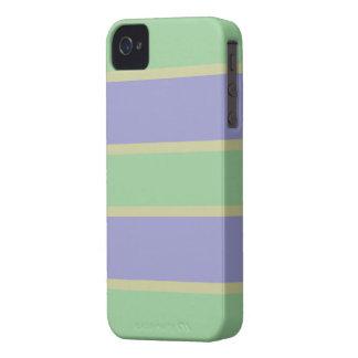La lila/la menta raya la caja de encargo de Case-Mate iPhone 4 cárcasas