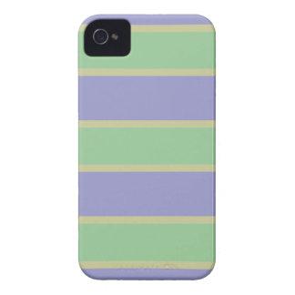 La lila/la menta raya la casamata de encargo del iPhone 4 Case-Mate fundas