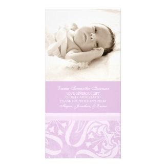 La lila le agradece las tarjetas de la foto de la  tarjeta fotografica personalizada
