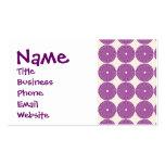 La lila púrpura bonita circunda los botones textur plantilla de tarjeta de negocio