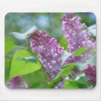 La lila púrpura florece el cojín de ratón alfombrillas de ratón