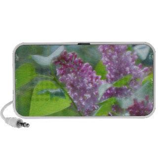La lila púrpura florece los altavoces portátiles