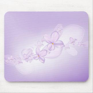 La lila suave florece el cojín de ratón alfombrillas de ratón