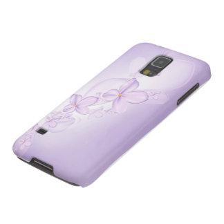 La lila suave florece la caja de la galaxia S5 de Fundas De Galaxy S5