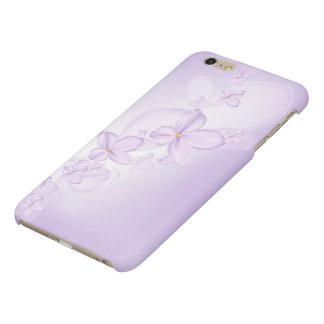 La lila suave florece la caja más del iPhone 6
