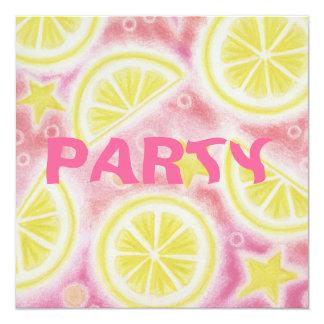 """La limonada rosada """"limones"""" va de fiesta el invitación"""