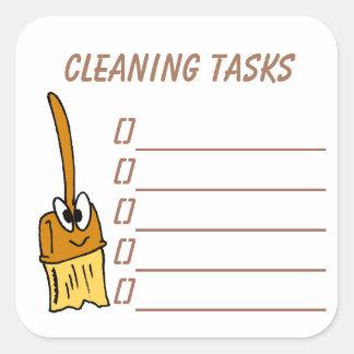 La limpieza encarga al pegatina del planificador