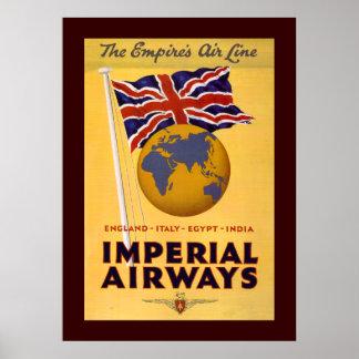 La línea aérea del imperio póster
