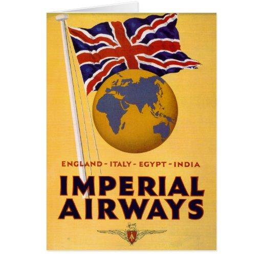 La línea aérea del imperio tarjeta
