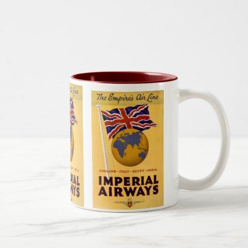 La línea aérea del imperio tazas de café