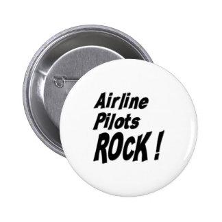 ¡La línea aérea pilota la roca! Botón Pin Redondo De 2 Pulgadas