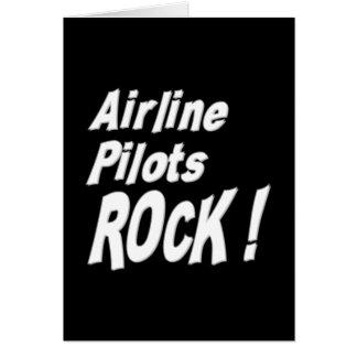 ¡La línea aérea pilota la roca Tarjeta de felicit