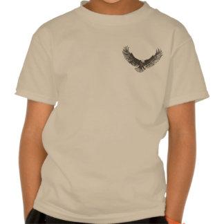La línea arte de la redada del águila de los camisetas