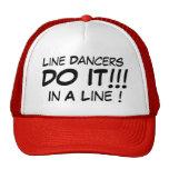 ¡La línea bailarines lo hace en una línea! Gorros Bordados