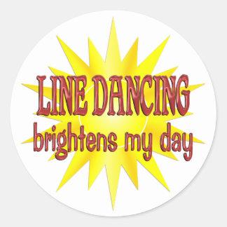 La línea baile aclara mi día etiqueta redonda