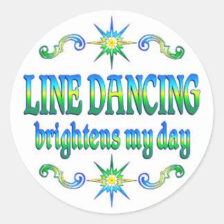 La línea baile aclara pegatina redonda