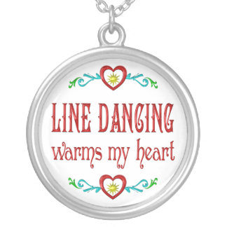 La línea baile calienta mi corazón colgante redondo