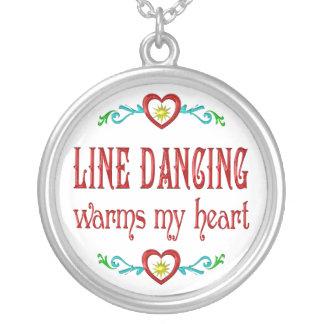 La línea baile calienta mi corazón colgantes
