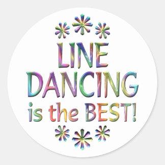 La línea baile es el mejor pegatina redonda