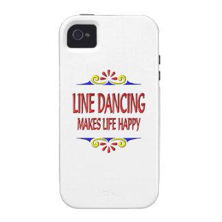 La línea baile hace vida feliz Case-Mate iPhone 4 carcasas
