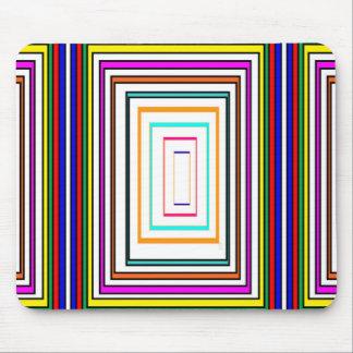 La línea colorida gráficos Sq del rectángulo del Alfombrilla De Ratón